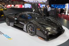 Scuderia Cameron Glickenhaus SCG 003. GENEVA, SWITZERLAND - MARCH 4, 2015: Scuderia Cameron Glickenhaus SCG 003 sports car presented at the 85th International Royalty Free Stock Image