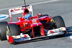 Scuderia Ferrari F1, Fernando Alonso, 2012 lizenzfreies stockbild