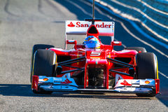 Scuderia Ferrari F1, Fernando Alonso, 2012 Arkivbilder