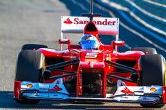Scuderia Ferrari F1, Fernando Alonso, 2012 Royaltyfria Bilder