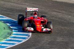 Scuderia Ferrari F1, Kimi Raikkonen, 2015 lizenzfreies stockfoto