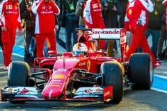 Scuderia Ferrari F1, Sebastian Vettel, 2015 Royaltyfri Bild