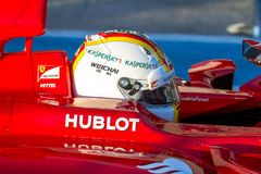 Scuderia Ferrari F1, Sebastian Vettel, 2015 Arkivfoto