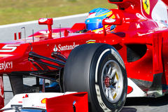 Scuderia Ferrari F1, Fernando Alonso, 2012 Stock Photography
