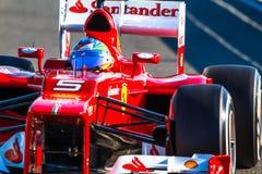 Scuderia Ferrari F1, Fernando Alonso, 2012 Royalty Free Stock Photos
