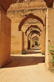 Scuderie antiche di Meknes Fotografia Stock