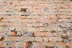 Scuffed кирпичная стена Стоковое Изображение RF