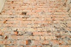 Scuffed кирпичная стена Стоковые Изображения