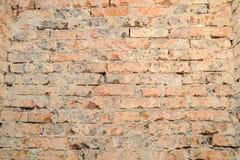 Scuffed кирпичная стена Стоковая Фотография RF