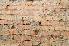Scuffed кирпичная стена Стоковое Изображение