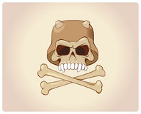 Scull with bones Stock Image