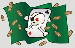 Scull del casino Fotos de archivo