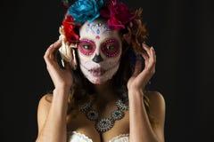 Scull mexicano del caramelo Fotografía de archivo libre de regalías