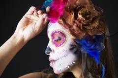 Scull mexicano del caramelo Imagenes de archivo