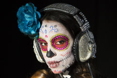 Scull mexicano del caramelo Foto de archivo libre de regalías