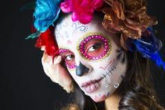 Scull mexicano del caramelo Imagen de archivo libre de regalías