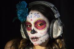 Scull mexicano del caramelo Fotos de archivo