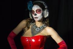 Scull mexicano del caramelo Fotos de archivo libres de regalías