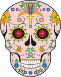 Scull. Mexico.Pop-art illustration stock image