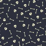 Scull seamless pattern. Bones and sculls Royalty Free Stock Image