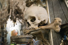 Scull, Sedlec Ossuary, Czech Republic Stock Images