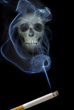 Scull in smoke Stock Images