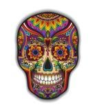 Scull tradicional mexicano de la impresión para la camiseta imagen de archivo