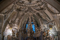 Sculls decorations, Sedlec Ossuary, Czech Republic Stock Photography