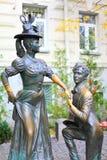 Sculprure of lovers in Kiev, Ukraine Stock Image