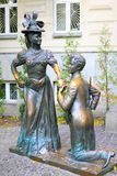 Sculprure of lovers in Kiev, Ukraine Stock Photo