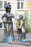 Sculprure of lovers in Kiev, Ukraine Royalty Free Stock Image