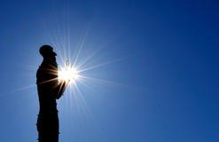 Sculprute del sol del hombre fotos de archivo libres de regalías
