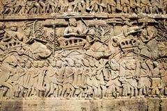 Sculpté du mur en pierre images libres de droits