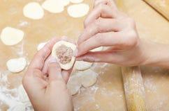 Sculpt dumplings Royalty Free Stock Photos