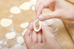 Sculpt dumplings Royalty Free Stock Image