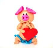 Sculpt pig so cute stock photos