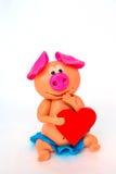 Sculpt pig so cute Royalty Free Stock Photo