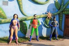 Sculpte des personnages de dessin animé en parc du pays des merveilles en capitale d'Ankara de la Turquie Photo stock