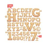 Sculpted alphabet. Stone carved letters, numbers and typeface symbols.. Sculpted alphabet. Stone carved letters, numbers and typeface symbols. Vector Royalty Free Stock Image