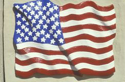 Sculpted American Flag, United States Royalty Free Stock Image