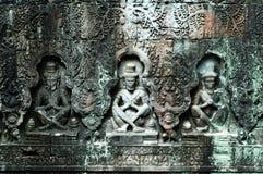 Sculpted buddhas, Siem Reap, Cambodia Royalty Free Stock Photos