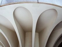 Sculpted  Concrete Buttress Royalty Free Stock Photos