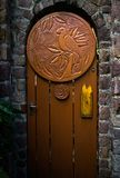 Sculpted Door in Caribbean stock photography