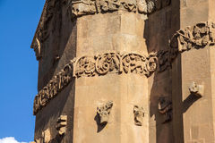 Sculpted frieze of Armenian Church Stock Image