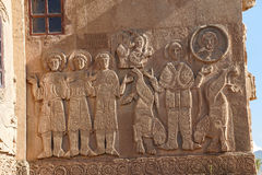 Sculpted frieze of Armenian Church Royalty Free Stock Photos