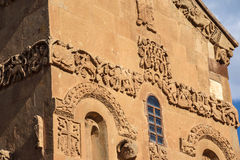 Sculpted frieze of Armenian Church Royalty Free Stock Images