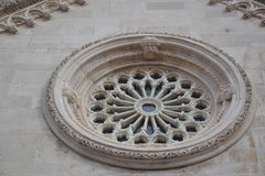 Sculpted rosetta window, architectural art Stock Photography