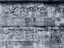 Sculpted ulga kamień od Borobudur świątyni Zdjęcia Royalty Free