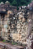 Sculpted wall, Angkor Wat Royalty Free Stock Image
