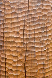 Sculpted wood background. With crackles stock photography